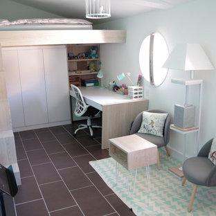 Ensemble Lit mezzanine avec armoire et bureau