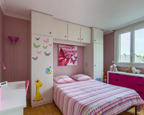 chambre pour petite fille avec des murs gris clair. mur couleur ...