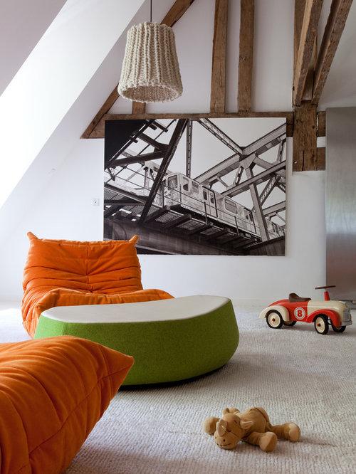 chambre d 39 enfant avec un sol en moquette photos et id es. Black Bedroom Furniture Sets. Home Design Ideas