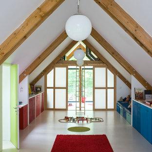 Réalisation d'une très grand chambre d'enfant de 4 à 10 ans design.