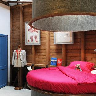 Idée de décoration pour une grande chambre d'enfant bohème.