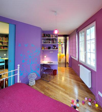 osez le violet dans les chambres d 39 enfant. Black Bedroom Furniture Sets. Home Design Ideas