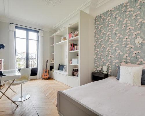 Chambre d\'ado classique avec un mur multicolore : Photos et idées ...