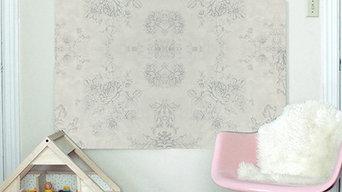 Papiers peints intissés motif floral