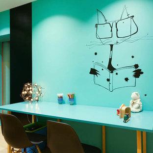 Cette image montre une chambre d'enfant design.