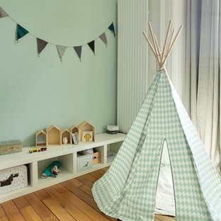 This is an example of a scandinavian nursery in Dijon.
