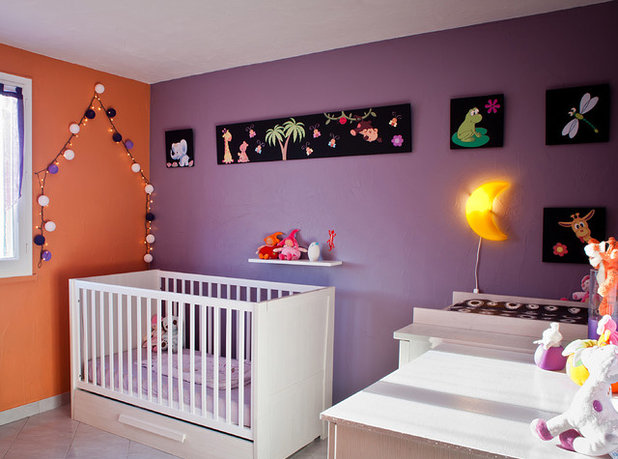 osez le violet dans les chambres d 39 enfant. Black Bedroom Furniture Sets. Home Design Ideas