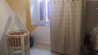 Chambre bébé jaune et gris
