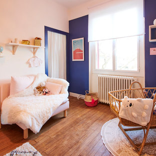 Inspiration pour une chambre de bébé nordique.