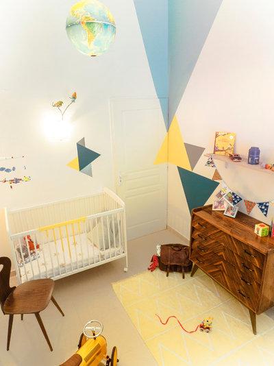 Midcentury Nursery Chambre d'enfant Vintage