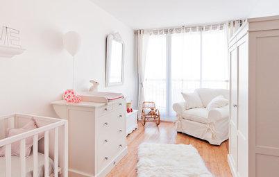 Chambre de bébé de la Semaine : Un cocon blanc pour bébé