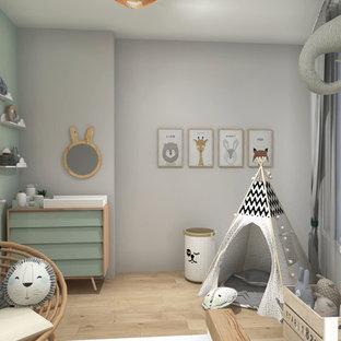 Skandinavische Babyzimmer Mit Gruner Wandfarbe Ideen Design