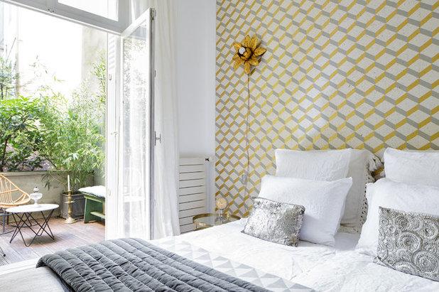 Contemporary Bedroom 3 pièces - Rénovation partielle et ameublement