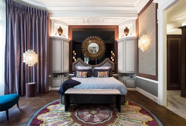Transitional Bedroom by Olivier Berni Intérieurs