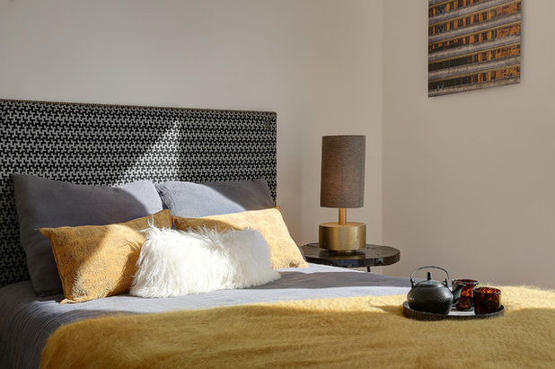 Contemporain Chambre by Anne Catherine Pierrey - Architecte DESA.