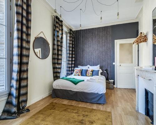 miroir au dessus de la chemin e photos et id es d co. Black Bedroom Furniture Sets. Home Design Ideas