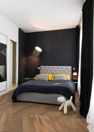 Contemporain Chambre by LOG ARCHITECTURE