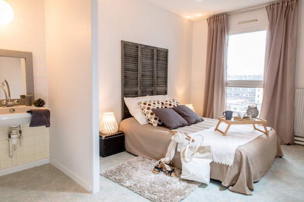 Contemporain Chambre by Tiphanie FOGEL Lyon Home Staging