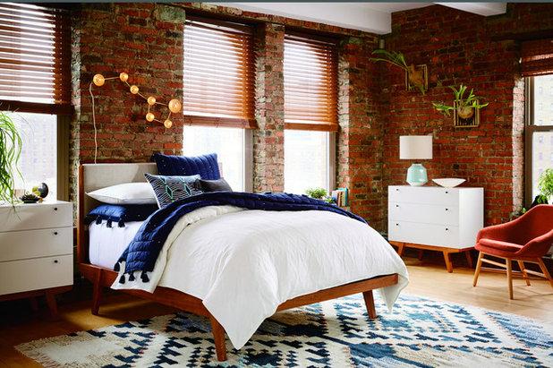 Industrial Bedroom by West Elm UK