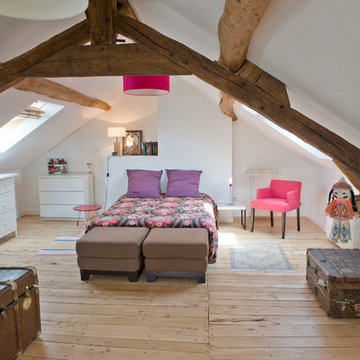 Bedroom in the attic, Sancerre, France