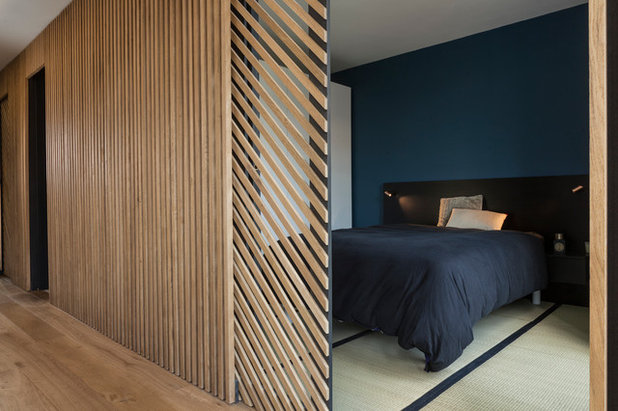 Современный Спальня by Agence Glenn Medioni