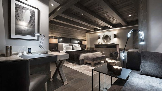 Chambre chambre style chalet moderne : Exercice de Style : L'ambiance chalet