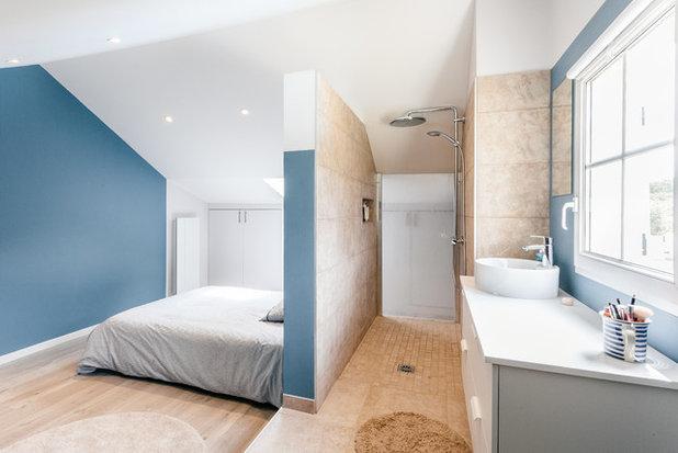 Contemporain Chambre by MadaM Architecture