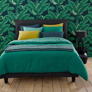 Chambre aux teintes tropicales