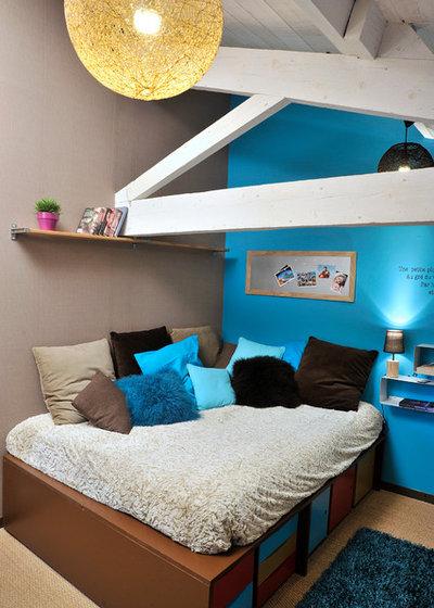 pensez au lit estrade pour gagner de la place dans une chambre d 39 enfant. Black Bedroom Furniture Sets. Home Design Ideas