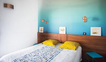 conseil couleur et aménagement d' un appartement contemporain