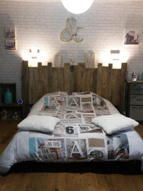 cr ation d 39 une t te de lit en palette pour une chambre style bord de mer. Black Bedroom Furniture Sets. Home Design Ideas