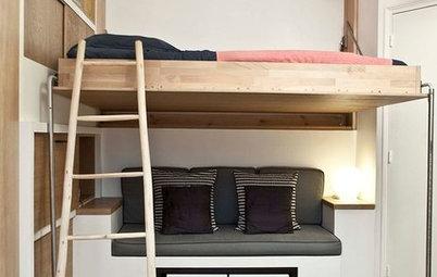 Pensez au lit estrade pour gagner de la place dans une - Fabriquer un coffre a jouets simple et rapide en bois ...