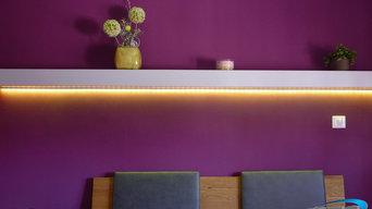 Eclairage d'ambiance RGB chambre à coucher
