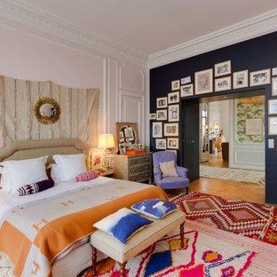 Chambre parentale avec un mur rose : Photos et idées déco de ...