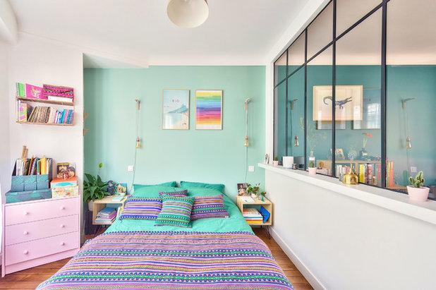 Contemporain Chambre by NEVA Architecture Intérieure - Interior Design