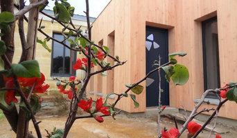Extension, 2 chambres et SDB, bardage bois d'une maison d'habitation