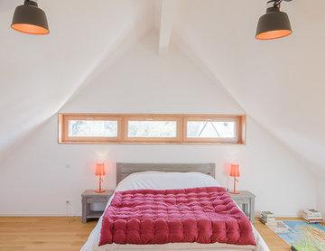 GRIGNOU & STEPHAN architectes, maison de vacances, Comprit - chambre scandinave