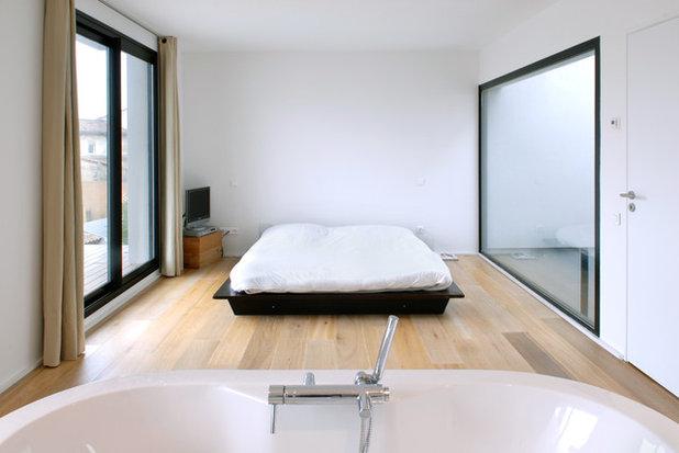 Contemporain Chambre By HYBRE ARCHITECTE
