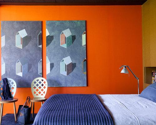 Contemporary bedroom design ideas renovations photos for Denim bedroom ideas