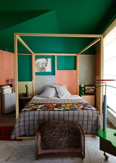 Eclectic Bedroom by Francis Amiand Photographe