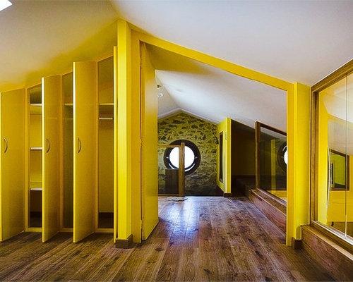 Chambre avec un mur jaune : Photos et idées déco de chambres