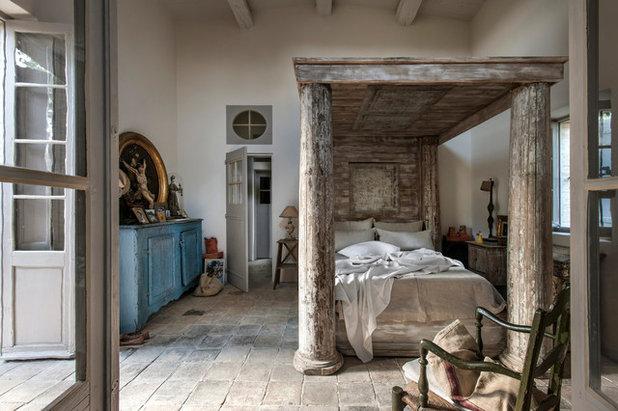 カントリー 寝室 by Bernard Touillon Photographe