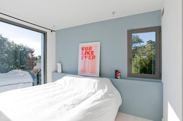 houzz tour minimalistisk dr mmehjem for familien med tre b rn. Black Bedroom Furniture Sets. Home Design Ideas