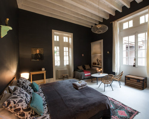chambre adulte avec un mur noir photos et id es d co de chambres adultes. Black Bedroom Furniture Sets. Home Design Ideas