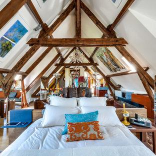 Стильный дизайн: спальня на антресоли в стиле фьюжн - последний тренд