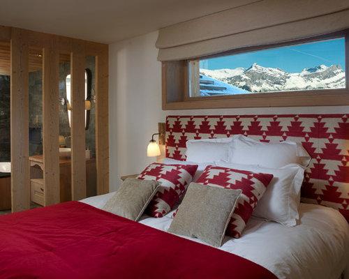 rustic red bedroom design ideas renovations photos