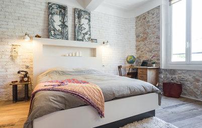 La brique, une jolie façon de faire le mur dans la chambre !