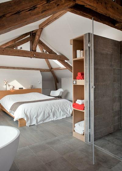 Contemporain Chambre by Olivier Chabaud Architecte