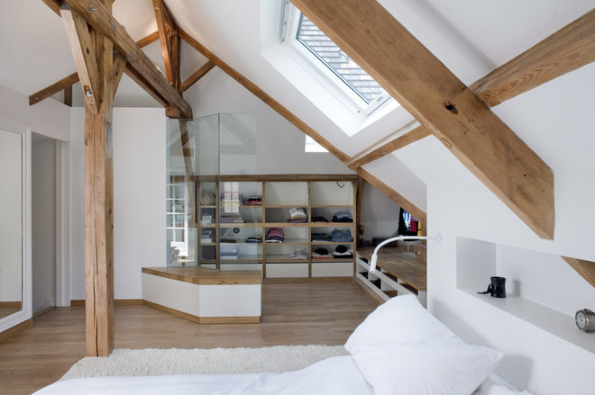 Rustic Bedroom by Olivier Chabaud Architecte