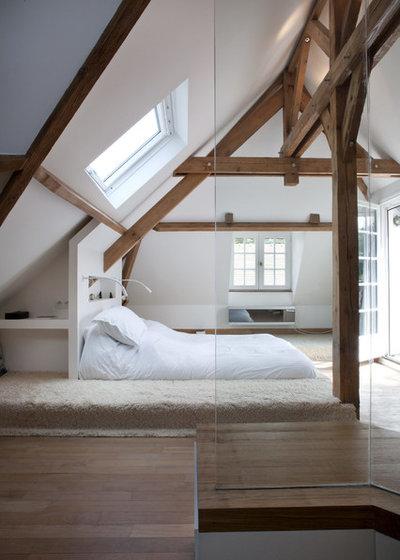 Rustikt Soveværelse by Olivier Chabaud Architecte